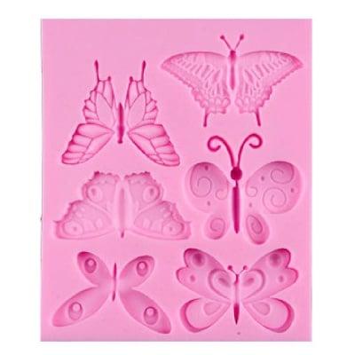 Силиконов молд /форма/ 110x90x7 мм пеперуди