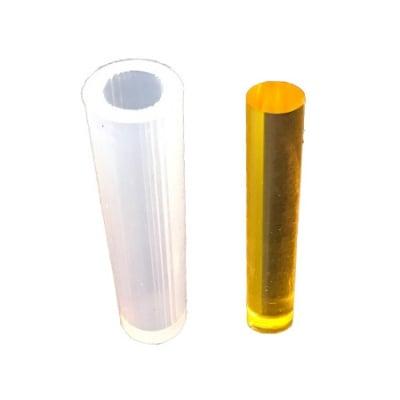 Силиконов молд /форма/ 16x50 мм цилиндър бижутерски