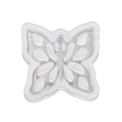 Силиконов молд /форма/ 52x8 мм 3D пеперуда