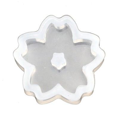 Силиконов молд /форма/ 33x8 мм мънисто цвете