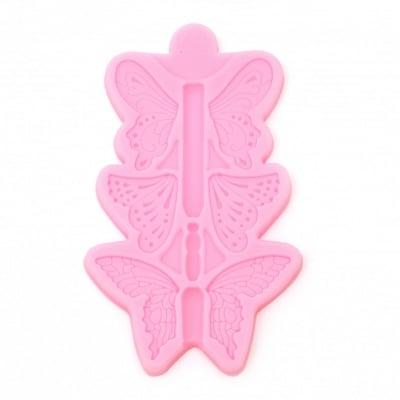 Силиконов молд /форма/ 78x130x9 мм пеперуди