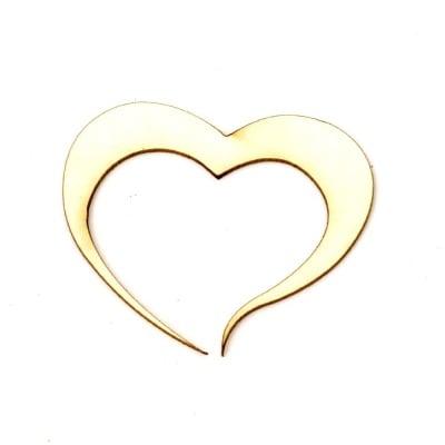 Сърце от бирен картон 40x50x1 мм -2 броя