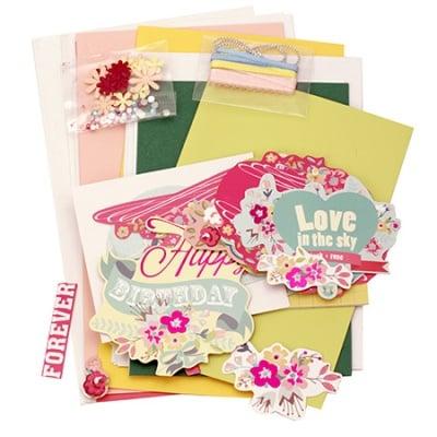 Комплект за направа на 6 броя картички- 3 броя -11.5x17 см и 3 броя -11.5x21 см Forever