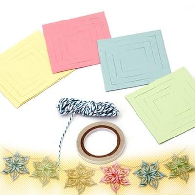 Комплект за направа и декорация на гирлянд от хартиени цветя -3 метра