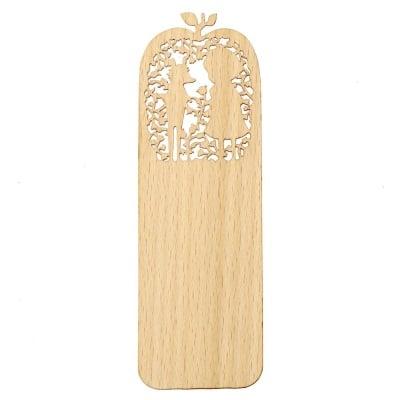 Книгоразделител /bookmark/ дървен 15x5 см винтидж дете