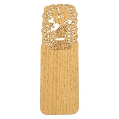 Книгоразделител /bookmark/ дървен 15x5 см винтидж момиче