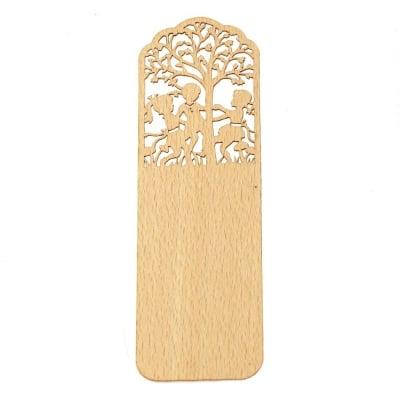 Книгоразделител /bookmark/ дървен 15x5 см винтидж деца