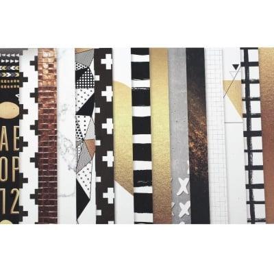Дизайнерска хартия за скрапбукинг 12 inch (30.5x30.5 см) 10 дизайна x 2 листа и 10 дизайна x 2 листа перлени
