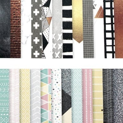 Дизайнерска хартия за скрапбукинг 6 inch (15.2x15.2 см) 12 дизайна x 3 листа Микс Модели