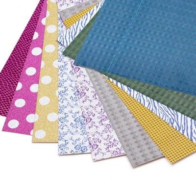 Холограмен картон с брокат 250 гр/м2 А4 20x30 см АСОРТЕ цветове и мотиви -10 листа