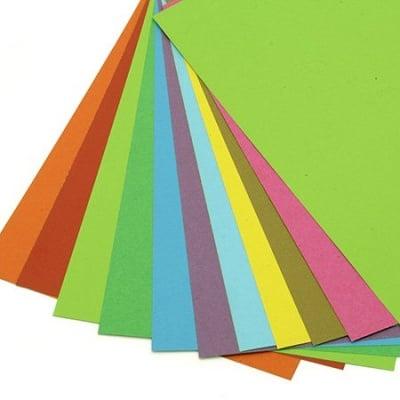 Картон цветен 200 гр/м2 А4 АСОРТЕ -10 листа
