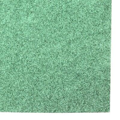 Картон с брокат 30x30 цвят зелен