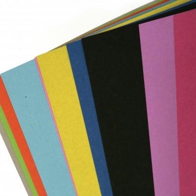 Блокче цветни картонени листи 30x21 см 10 цвята по 1 брой