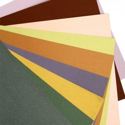 Картон 150-200 гр/м2 Асорте (19.7x 27см) цвят Асорте