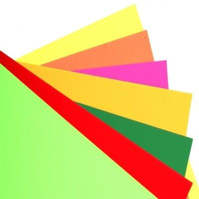 Картон А4 250 гр/м2 електрик МИКС цветове -10 листа