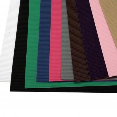 Картон гофриран 50x70 см МИКС цветове -1 лист
