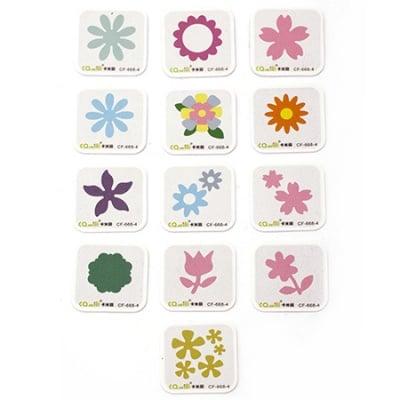 Щанца за изрязване от 8 мм до 37 мм АСОРТЕ цветя