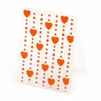 Папка за релеф 7.5x10 см -сърца