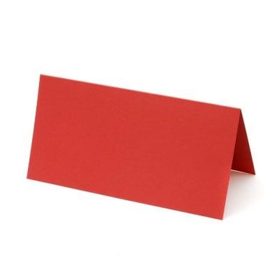 Основа за картичка 10x20 см вертикална цвят червен -10 броя