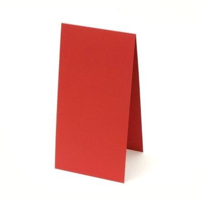 Основа за картичка 10x20 см хоризонална цвят червен -10 броя