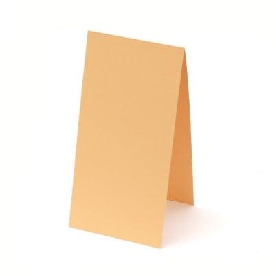 Основа за картичка 10x20 см хоризонтална цвят оранжев -10 броя