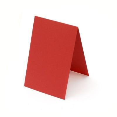 Основа за картичка 10x15 см хоризонтална цвят червен -10 броя