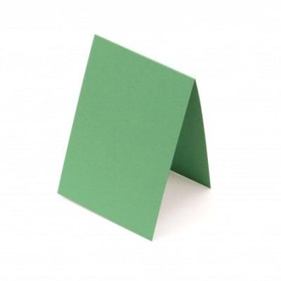 Основа за картичка 10x15 см хоризонтална цвят зелен -10 броя