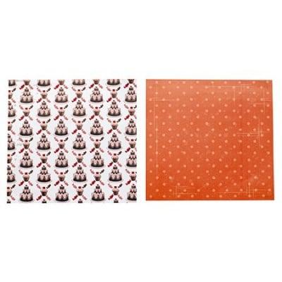 Дизайнерска хартия за скрапбукинг 12 inch(30.5 x 30.5 см) двустранна 200гр/м2 -1 лист