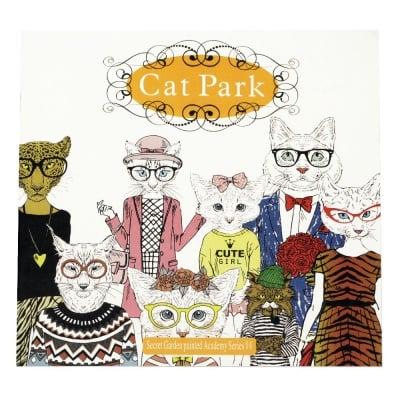 Книжка за оцветяване антистрес 24x24.5 см 24 страници - Cat Park