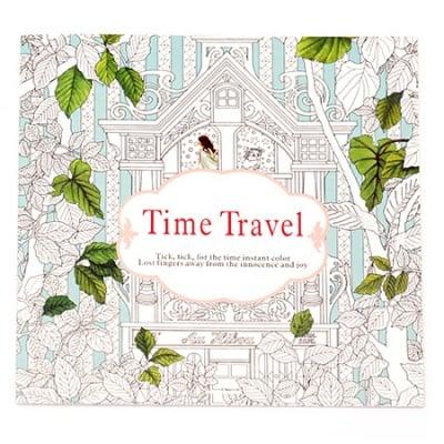 Книжка за оцветяване антистрес 24x24.5 см 24 страници - Time Travel