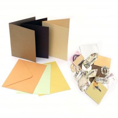 Комплект за направа на 3 броя картички 11.5x17 см