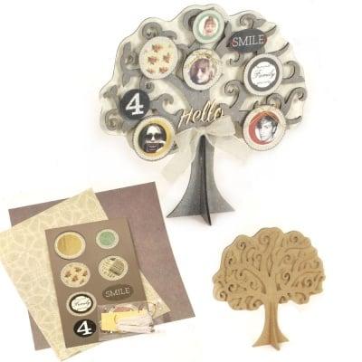 Комплект за направа и декорация на дърво 26x24x12 см