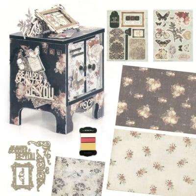 Комплект за направа и декорация на мини шкаф 15.3x12.5x10.8 см