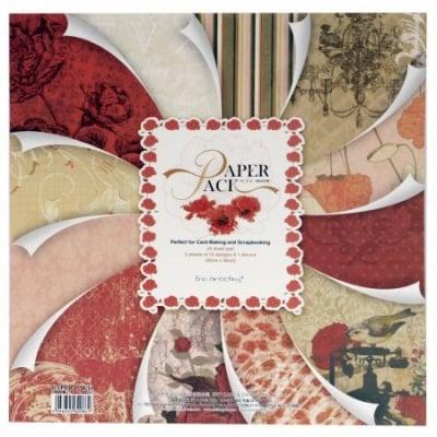 Комплект дизайнерска хартия за скрапбукинг 12 inch (30.5x30.5 см) 12 дизайна x 2 листа и 1 щанцован лист