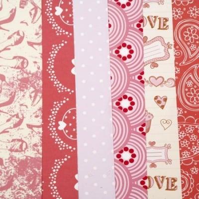 Дизайнерска хартия за скрапбукинг 12 inch (30.5x30.5 см) 6 дизайна x 2 листа