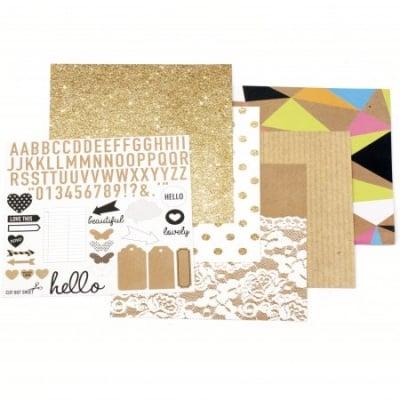Дизайнерска хартия за скрапбукинг 6 inch (15.2x15.2 см) 6 дизайна x 2 листа