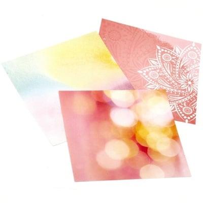 Xартия за скрапбукинг 6 inch(15.2 x 15.2 см) едностранна 100 гр/м2 МИКС -1 лист