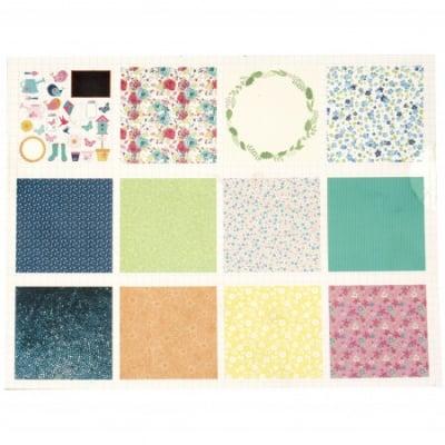 Дизайнерска хартия за скрапбукинг 12 inch (30.5x30.5 см) 15 дизайна x 2 листа