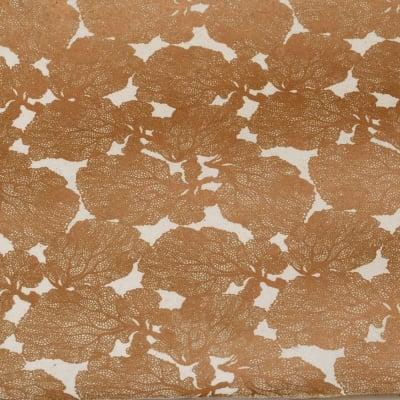 Непалска хартия 60 гр ръчна 51x69 см Printed Coral - натурална с мед