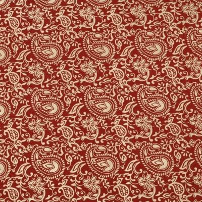 Дизайнерска индийска хартия 120 гр за скрапбукинг, арт и крафт 56x76 см Gold Red HP07