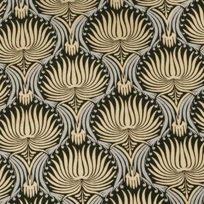 Дизайнерска индийска хартия 120 гр за скрапбукинг, арт и крафт 56x76 см Gold Silver on Black HP11
