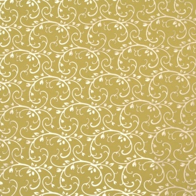 Дизайнерска индийска хартия 120 гр за скрапбукинг, арт и крафт 56x76 см foil print Gold on Yelow HP34