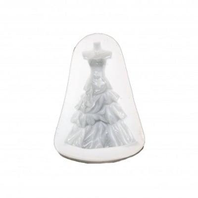 Силиконов молд /форма/ 78x55x13 мм рокля