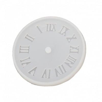Силиконов молд /форма/ 105x105x9 мм малък циферблат за часовник с римски цифри