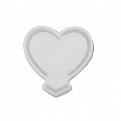 Силиконов молд 2 части /форма/ 65x65x10 мм сърце