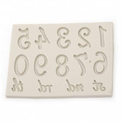 Силиконов молд /форма/ 14x11x7 мм цифри