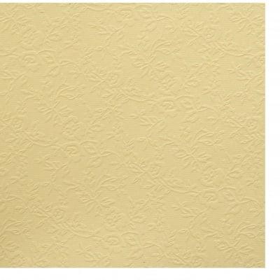 Картон перлен едностранен релефен с цветя 210 гр/м2 А4 (21x 29.7 см) цвят жълт -1 брой