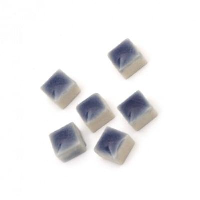 Мозайка керамична за декорация 5х5х3.5 мм цвят тъмно син 20 грама ~ 132 броя