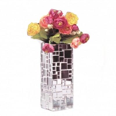 Креативен комплект ваза 205х60х60 мм 4 размера мозайка стъклена огледална за декорация ~ 237 части