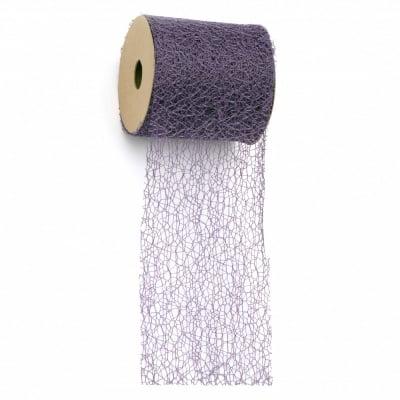 Мрежа тип паяжина 8 см цвят лилав тъмен-9 метра